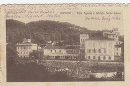 ONEGLIA-IMPERIA-VILLA AGNESI E ISTITUTO SACRO CUORE--CARTOLINA VIAGGIATA IL 12-8-1919 - Imperia
