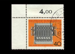 BRD 1973, Michel-Nr. 778, 350 Jahre Rechenmaschine, 40 Pf., Eckrand Links Oben, Gestempelt - Gebraucht