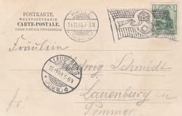 Allemagne Flamme Drapeau Halle Sur Carte Postale 1903 - Germania