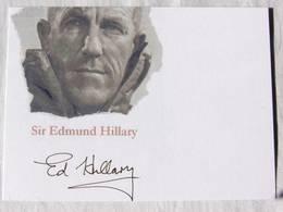 Carte Postale  - Sir Edmund HILLARY - Dédicace - Hand Signed - Autographe Authentique  - - Mountaineering, Alpinism