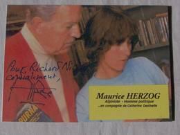 Carte Postale  - Maurice HERZOG - Dédicace - Hand Signed - Autographe Authentique  - - Alpinisme