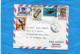 MARCOPHILIE-madagascar-lettre> Françe-cad 1965+-fort Dauphin-5-stamps N°428 Insect +381 Auto - Madagascar (1960-...)