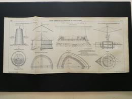 ANNALES DES PONTS Et CHAUSSEES - Divers Dispositifs De Fondations De Tours En Mer - Imp A. Gentil (CLC82) - Cartes Marines