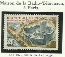 FRANCE - 1963 - MAISON DE LA RADIO-TÉLÉVISION À PARIS - YT N° 1402 - TIMBRE NEUF** - France
