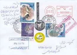 Iran Local Hologram Used Cover, Bird WWF Bird Stamp - Hologrammen