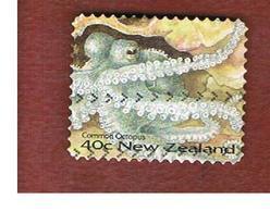 NUOVA ZELANDA (NEW ZEALAND) - SG 1977  -  1996   MARINE LIFE: COMMON OCTOPUS     -  USED° - Nuova Zelanda