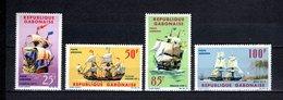 GABON PA N° 32 à 35  NEUFS SANS CHARNIERE COTE 16.00€  BATEAUX  VOIR DESCRIPTION - Gabon (1960-...)