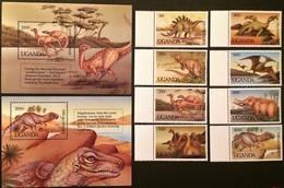 # Uganda 1992**Mi.1064-73  Prehistoric Animals , MNH [20;29] - Vor- U. Frühgeschichte