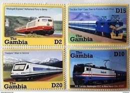 Gambia 2001**Mi.4491-94. Trains , MNH [17;105] - Treinen