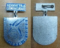 AC -  EUROPEAN FIGURE SKATING CHAMPIONSHIP LENINGRAD, 04 - 08 FEBRUARY 1970 SOVIET UNION, RUSSIA PIN - BADGE - Patinage Artistique