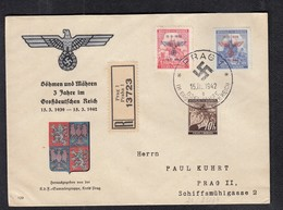 DR Böhmen Mähren R-Brief Prag SSt Nr.83/84 - Besetzungen 1938-45