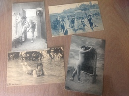 4 Cartes Postales Nos Baigneuses La Mer La Côte Le Littoral - Cartes Postales