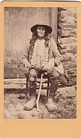 PHOTO CDV 19 EME BRETAGNE PAYSAN BRETON  EN SABOT  CABINET CARLIERY ( FERDINAND CARLIER ) - Anciennes (Av. 1900)