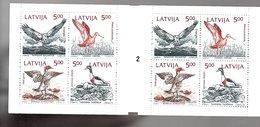 1992 Birds Booklet MNH (b49) - Lettland