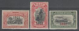 CONGO BELGE:  N°92/94 *        - Cote 23€ - - 1894-1923 Mols: Neufs