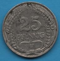 DEUTSCHES REICH 25 PFENNIG 1910 F  KM# 18 Wilhelm II - [ 2] 1871-1918 : German Empire