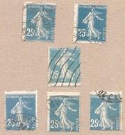 140 X5 Piquage Décalé Variété - 25c */** Semeuse - Curiosités: 1921-30 Neufs