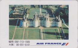 Télécarte Japon / 110-011 - AVIATION AIR FRANCE - CHATEAU DE CHAMBORD - PLANE AIRLINES Japan Phonecard - Avion 2234 - Paysages