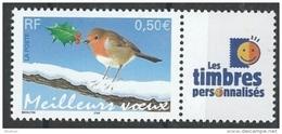"""FR Personnalisés YT 3621A """" Meilleurs Voeux - LTP """" 2003 Neuf** - Personalized Stamps"""