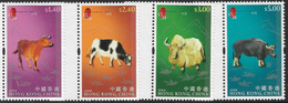 Hong Kong 2009 Year Of The Ox Set 4v Unmounted Mint [3/3472/ND] - 1997-... Chinese Admnistrative Region