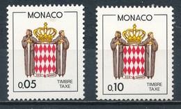 °°° MONACO - Y&T N°75/76 TAXE - 1985 MNH °°° - Monaco