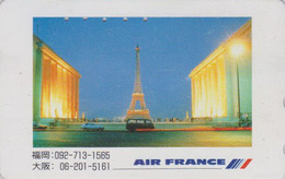 Télécarte Japon / 110-011 - AVIATION - AIR FRANCE - PARIS TOUR EIFFEL - PLANE AIRLINES Japan Phonecard - Avion 2235 - Avions