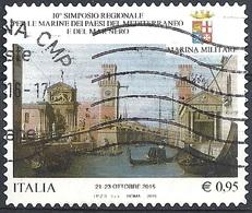 Italia, 2015 Simposio Delle Marine Del Mediterraneo E Mar Nero 0.95 € # Sassone 3633  - Michel 3853 - Scott -  USATO - 1946-.. République