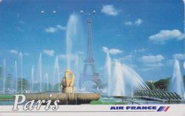 Télécarte Japon / 110-011 - AVIATION - AIR FRANCE - PARIS TOUR EIFFEL - PLANE AIRLINES Japan Phonecard - Avion 2236 - Avions