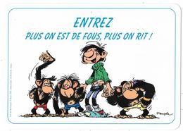 Plaque De Porte: GASTON LAGAFFE: Entrez Plus On Est De Fous - Franquin. Ed. Dalix 1993 (pouvant Servir De Set De Table) - Livres, BD, Revues
