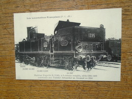 édition Cartes D'autrefois , Les Locomotives Françaises , Machine Engerth N° 1.395 , à 3 Essieux Couplés - Eisenbahnen