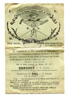 Affichette Invitation Compagnons  Et Aspirants Boulangers De La Ville De Paris  Fete Annuelle Saint Honoré - Affiches