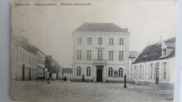 1 Postkaart  Merchtem  Gemeentehuis Drukker Imp.M.Sacre-De Buyst - Merchtem