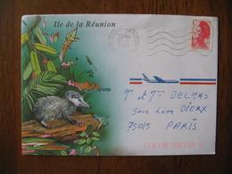 Lettre 1990   Gillot-Aéroport   Ile De La Réunion Par Avion Pour  Paris   Timbre N° 2616 Lettre C - Reunion Island (1852-1975)