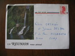 Lettre 1990    Ile De La Réunion Par Avion Pour  Evry  Timbre N° 2616 Lettre C - Reunion Island (1852-1975)