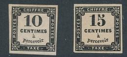 CR-26: FRANCE: Lot  Avec Taxe N°2A*-3* - Portomarken