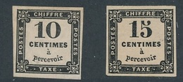 CR-26: FRANCE: Lot  Avec Taxe N°2A*-3* - 1859-1955 Nuevos