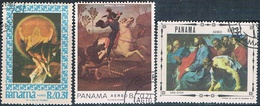 Panama 1967  -  Yvert  412 + 422 + 438  AEREOS  ( Usados ) - Panamá
