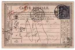 CARTE PRÉCURSEUR INSUFF. AFFRANCHIE - Postmark Collection (Covers)