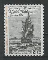 TAAF 1985 PA N° 88 Neuf MNH Superbe C 7 € Histoire Polaire Frégate La Novara Saint-Paul Bateaux Sailboat Transpo - Luchtpost