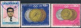 Panama 1968 / 73  -  Yvert  448 / 49 + 544  AEREOS  ( Usados ) - Panamá