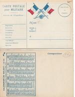CPFM 1ère Guerre Avec Canon Au Recto & Calendrier 1915 Au Verso - édit Chazeirat Paris - Scan Recto-verso - Cartes De Franchise Militaire