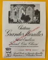 10341 - Château Grandes Murailles 1972 Saint Emilion - Beaujolais