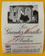 10342 - Les  Grandes Murailles 1973 Saint Emilion - Beaujolais