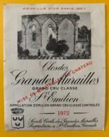 10344 - Clos Des Grandes Murailles 1972 Saint Emilion - Beaujolais