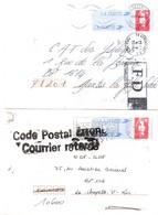 Code Postal Erroné Courrier Retardé & Versailles FD - 1996 1997 Sur PAP Briat - Marcophilie (Lettres)