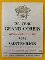 10349 - Château Grand Corbin 1974 Saint Emilion - Beaujolais