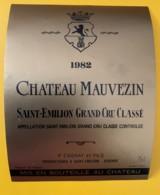 10351 - Château Mauvezin 1982 Saint Emilion - Beaujolais
