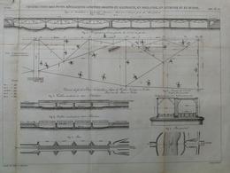 ANNALES DES PONTS Et CHAUSSEES (Allemagne) - Constructions De Ponts Métalliques - Gravé Par Macquet 1887 (CLC92) - Public Works