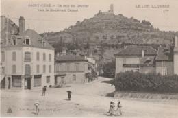 46 - SAINT-CERE - Un Coin Du Gravier Vers Le Boulevard Carnot - Epicerie Henri Lafage (impeccable) - Saint-Céré