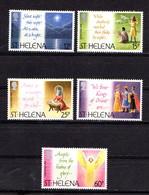 SAINT  HELENA    1994    Christmas    Set  Of  5    MNH - Saint Helena Island